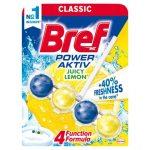 Bref Power Aktiv Juicy Lemon WC-frissítő 50 g