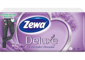 Zewa Deluxe papírzsebkendő 3 rétegű Levendula - 90db