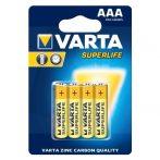 Varta Superlife féltartós elem AAA B4 - 4db