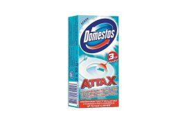 Domestos Attax öntapadós WC tisztító csík Óceán - 3x10g