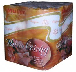 Müller WC papír 3 rétegű Barackvirág - narancssárga - 8tekercs