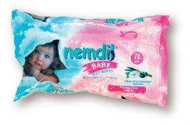 Nemdil Baby nedves törlőkendő - 72db