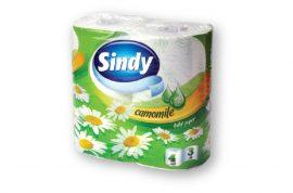 Sindy WC papír 3 rétegű Kamilla - 4tekercs