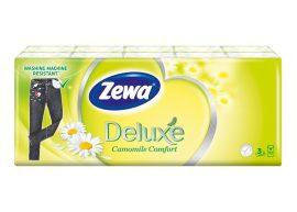 Zewa Deluxe papírzsebkendő 3 rétegű Kamilla - 10x10db
