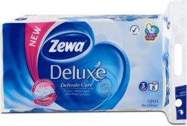 Zewa Deluxe WC papír 3 rétegű Classic Fehér - 8 tekercs