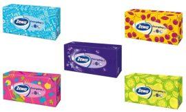 Zewa Style dobozos papírzsebkendő 2 réteg több szín - 100db