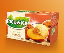 Pickwick fekete tea őszibarack 20x1,5g