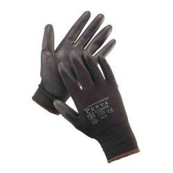 Szerelőkesztyű fekete tenyeres 09/L-méret - 1pár