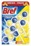 Bref Power Aktiv Juicy Lemon WC-frissítő 3 x 50 g