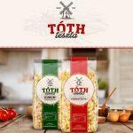 Tóth tészta 4 tojásos eperlevél (kocka) - 250g