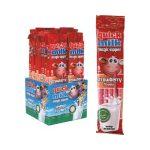 Quick Milk ízesített szívószál epres - 30g
